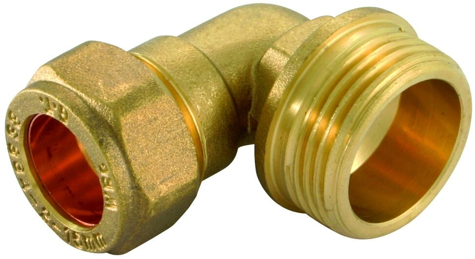 Brass compression male elbow bend conex mm