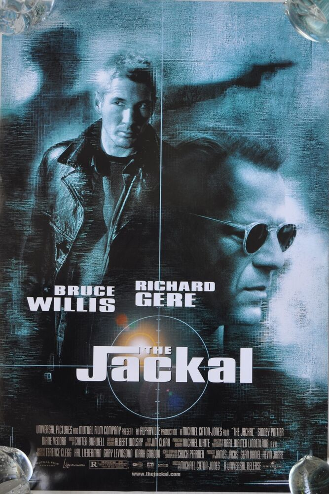 �the jackal� 1997 movie poster starring bruce willis