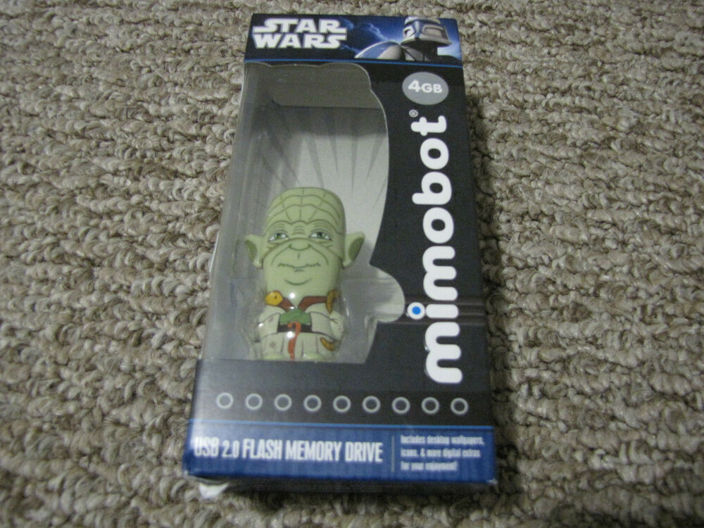 star wars yoda 4gb mimobot usb flash drive new ebay. Black Bedroom Furniture Sets. Home Design Ideas