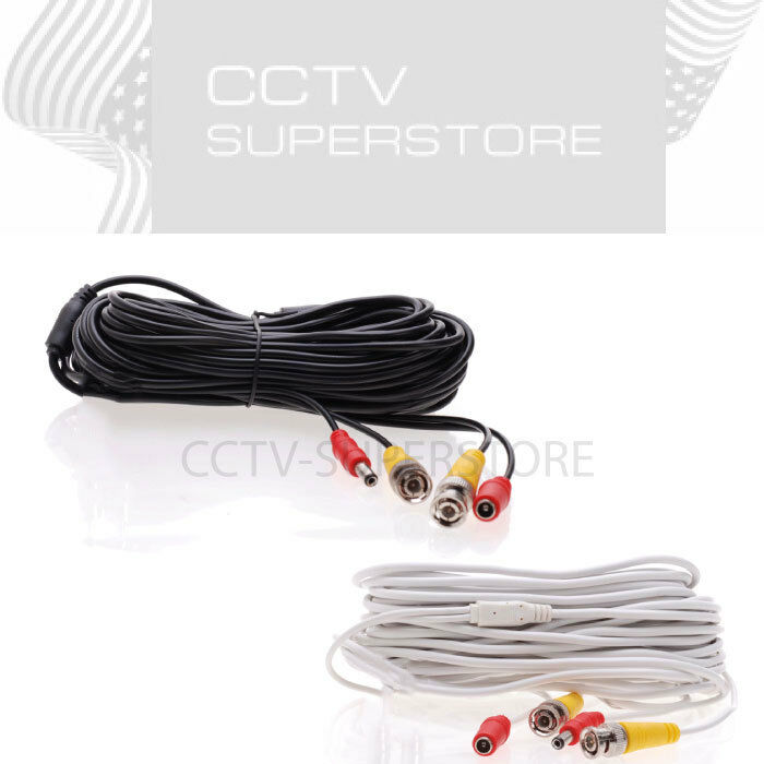 Cctv Security Camera Cable Video Power Bnc Dvr 10ft 20ft