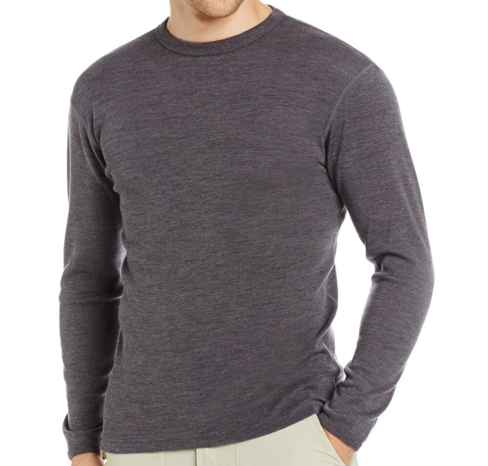 100 merino wool men 39 s midweight crew outdoor sport for Mens red wool shirt
