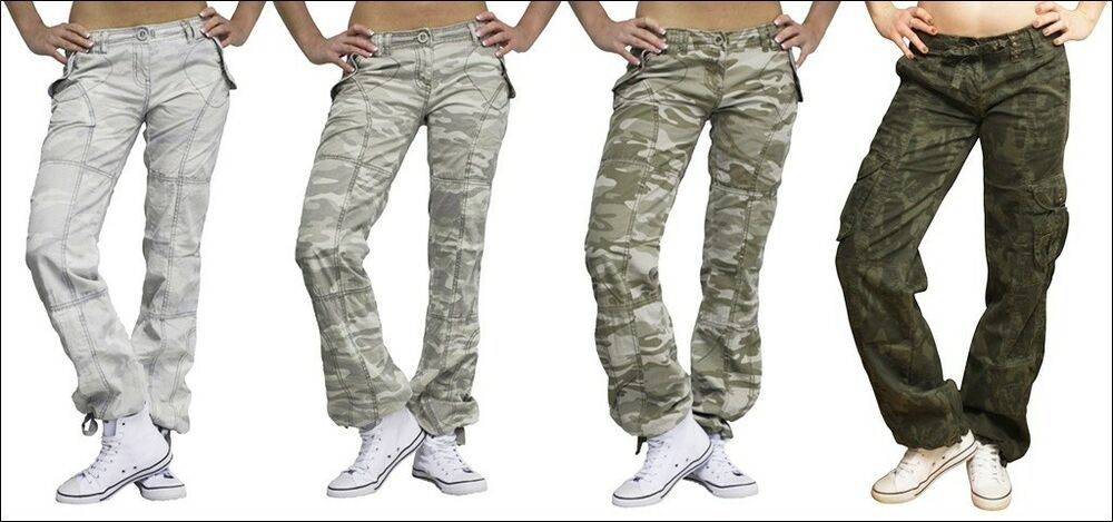 damen tarn hose camouflage tarnhose army armee milit r h fthose xs s m l xl neu ebay. Black Bedroom Furniture Sets. Home Design Ideas