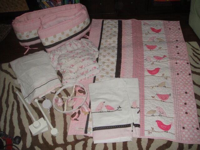 POTTERY BARN KIDS PENELOPE BIRD CRIB BED BEDDING SET