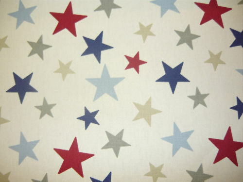 Blue Curtains blue curtains with white stars : Funky Stars Fabric | eBay