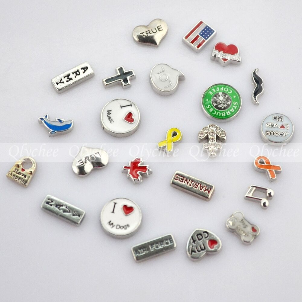 new floating locket charms for glass living memory lockets