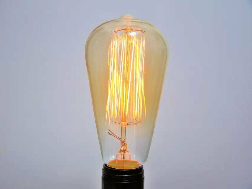 60 Watt 120v Vintage Original Edison Light Bulb U Base E26 Ebay