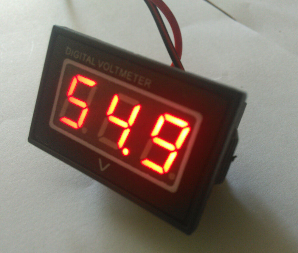 Car Battery Voltage Meter : Waterproof digital voltage meter battery gauge or