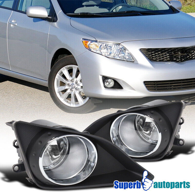 2009 2010 toyota corolla front bumper fog lights lamps. Black Bedroom Furniture Sets. Home Design Ideas