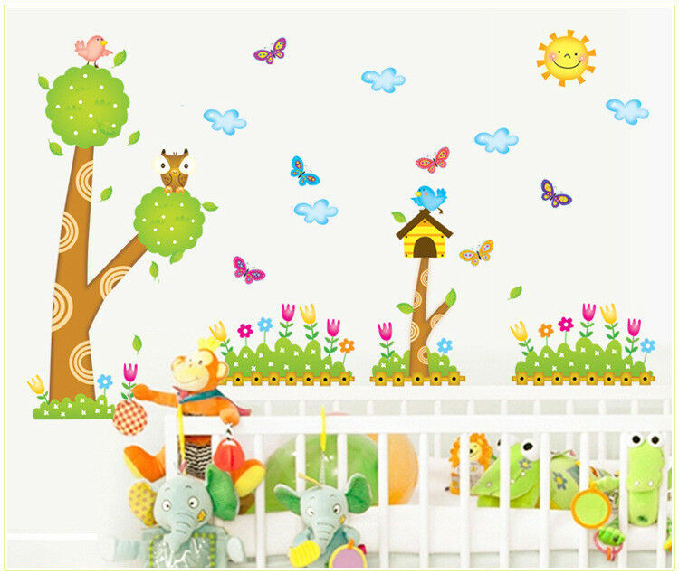 wandtattoo baum kinderzimmer wandsticker diy deko wandaufkleber sticker v gel ebay. Black Bedroom Furniture Sets. Home Design Ideas