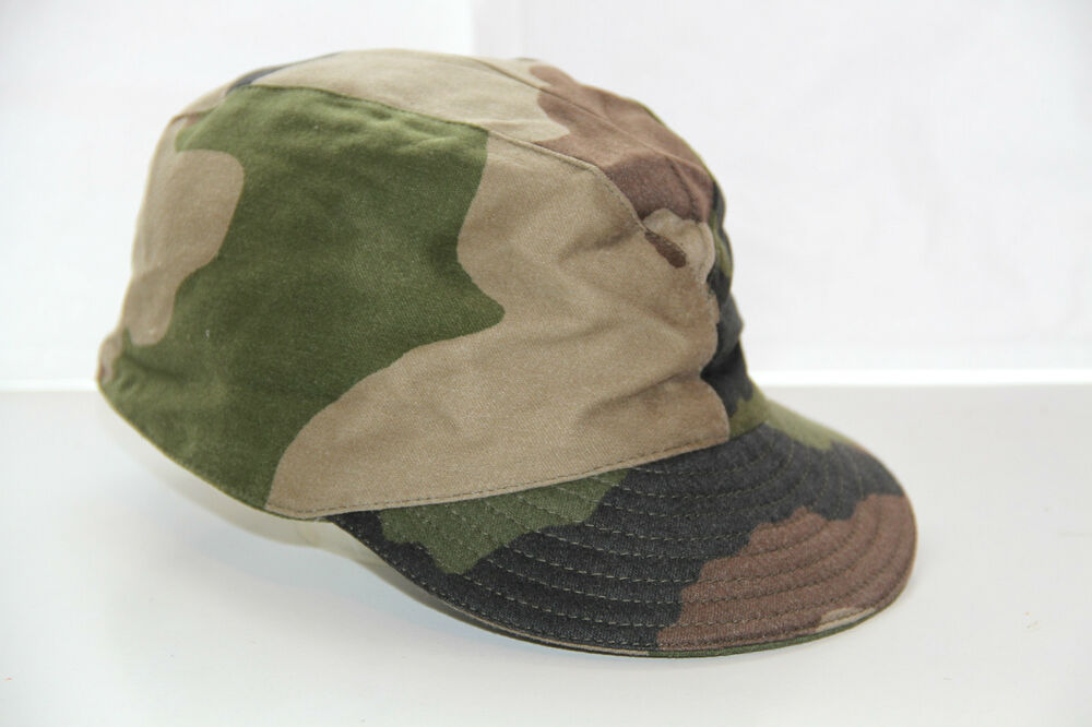New French Army Cce Camo Sun Cap Military Surplus Hat