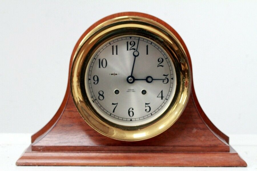 chelsea ships clock mint clean antique chelsea ships bell mantel clock ebay 2138
