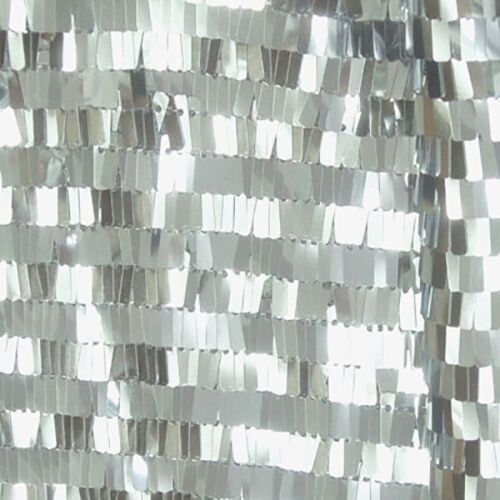 Silver Rectangle Piano Sequin Fabirc For Dress Tablecloth