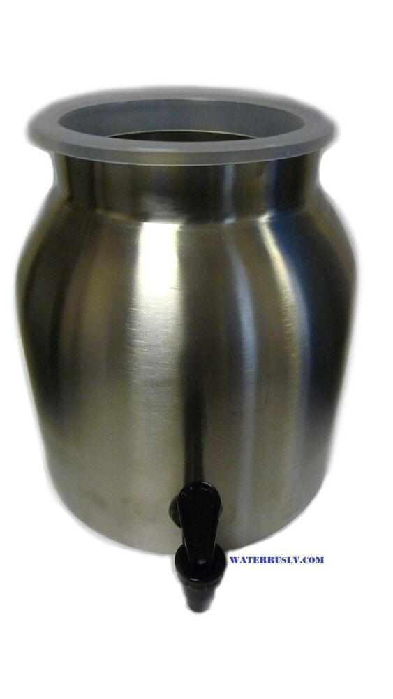 Stainless Steel Water Crock Dispenser Drinking Beverage