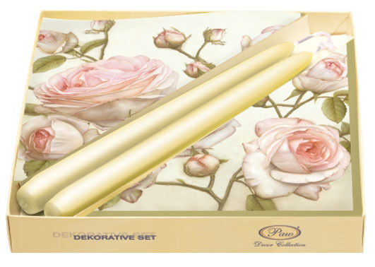 20 Paper Napkins with Candles BEAUTY ROSES Decoration ...