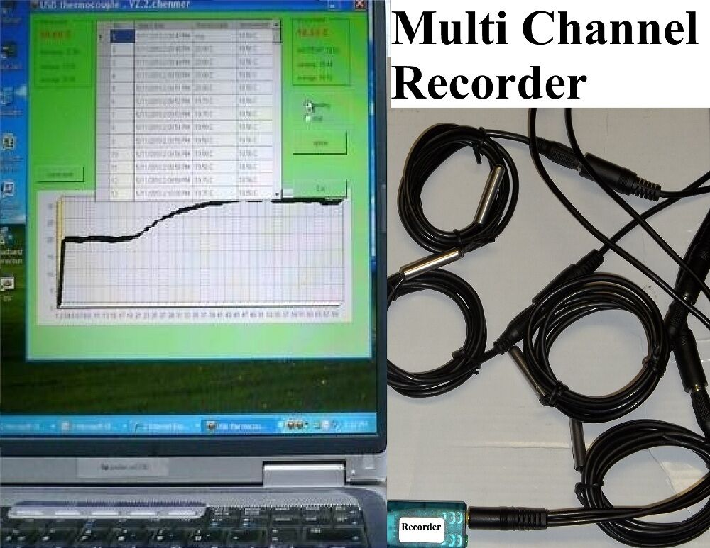 Pc Data Logger : Channel temperature chart recorder data logger analyzing
