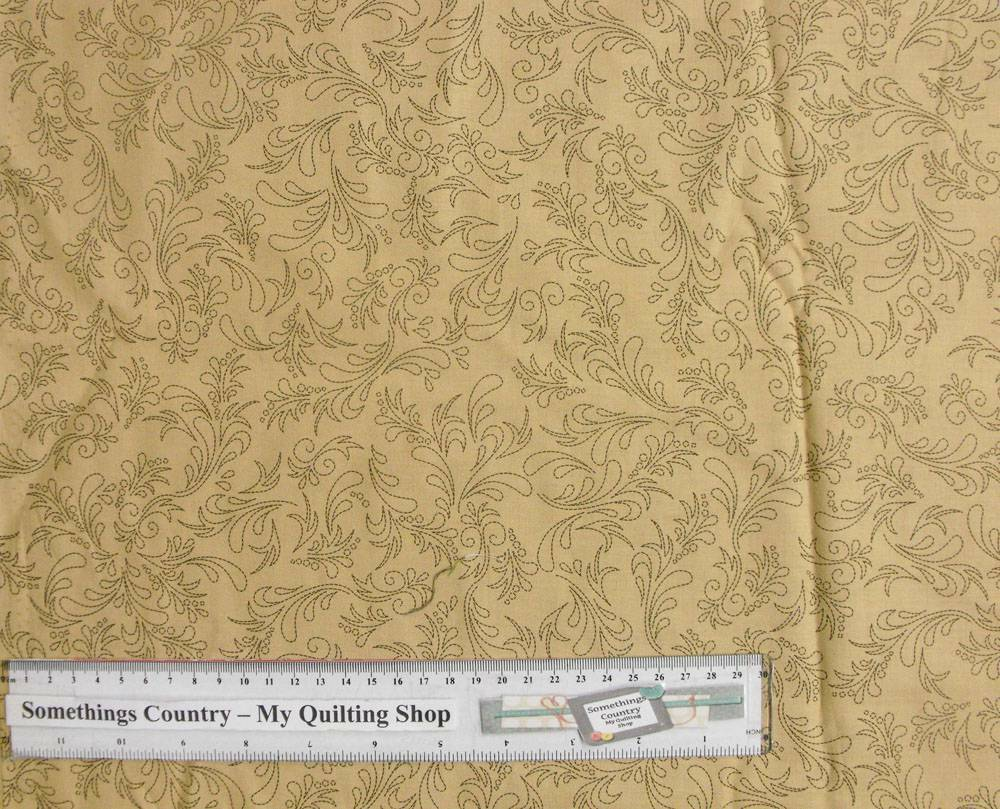 Patchwork quilting fabric fawn floral design cotton for Cotton quilting fabric