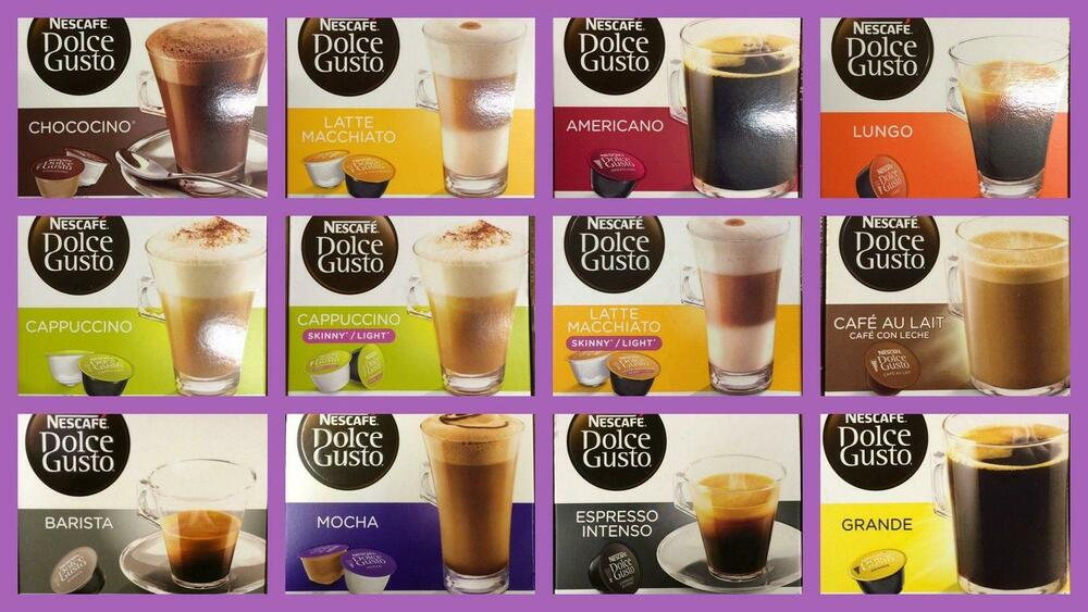 nescafe dolce gusto coffee capsules 3 boxes of 16 pods select your flavour ebay. Black Bedroom Furniture Sets. Home Design Ideas