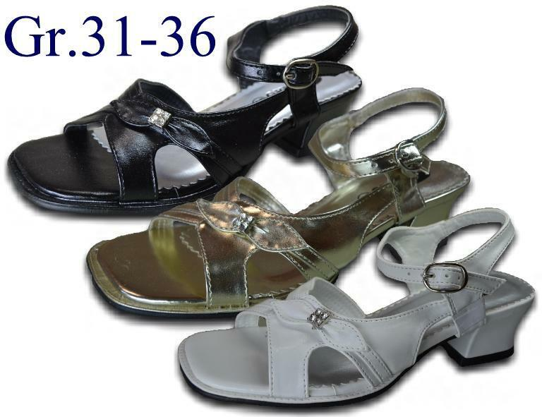 madchen sandalen neu mit strass absatz 3 5 cm sandale sandalette 2472 ebay. Black Bedroom Furniture Sets. Home Design Ideas