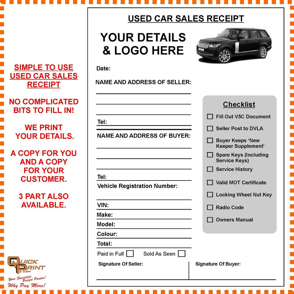 ready to use sales receipt