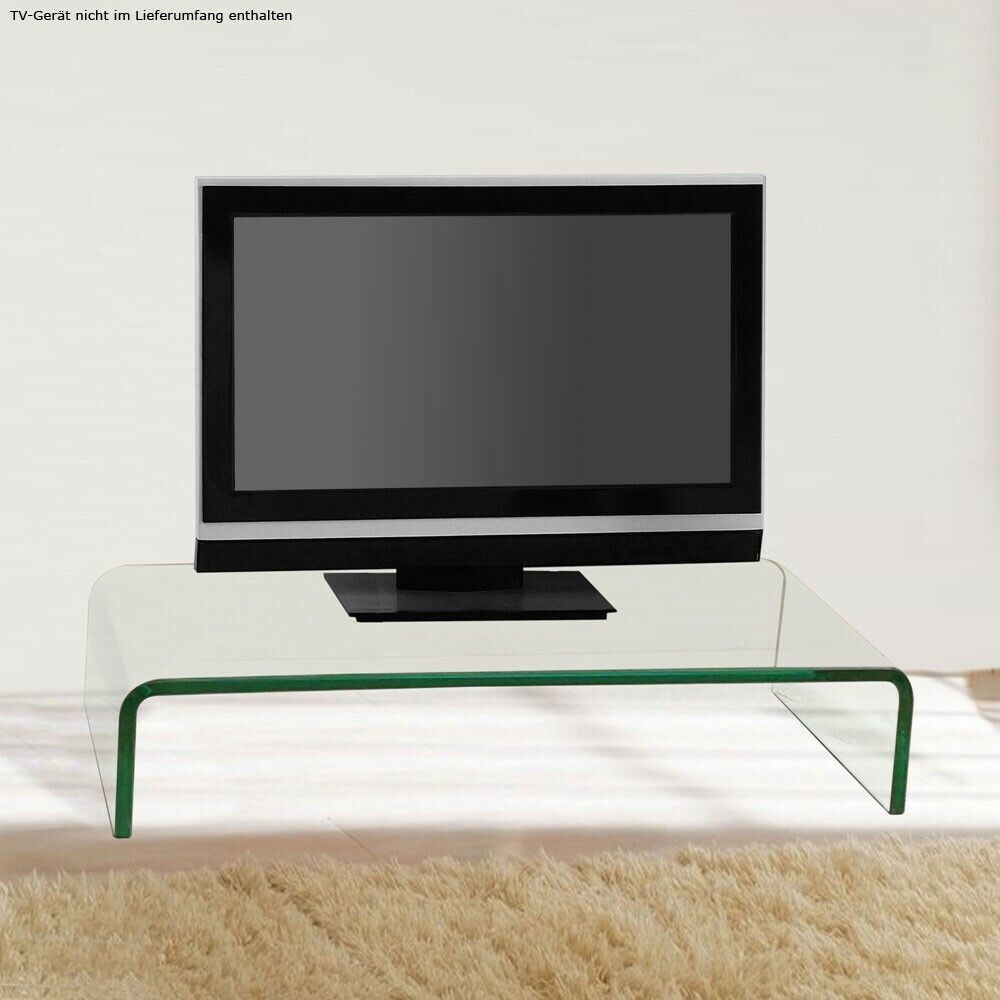 modern fernseh tisch monitor aufsatz tv ablage gebogen glastisch wohnzimmer edel ebay. Black Bedroom Furniture Sets. Home Design Ideas