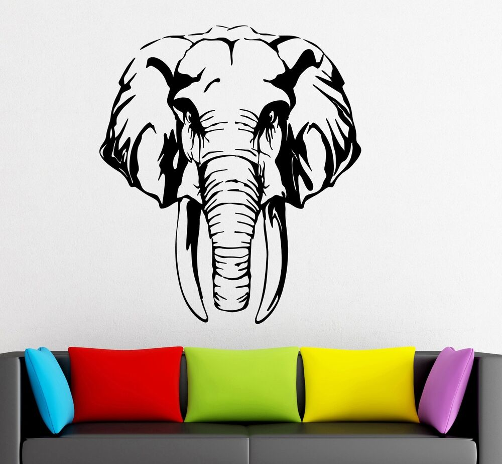 Wall Stickers Vinyl Decal Elephant Animal Tribal Great
