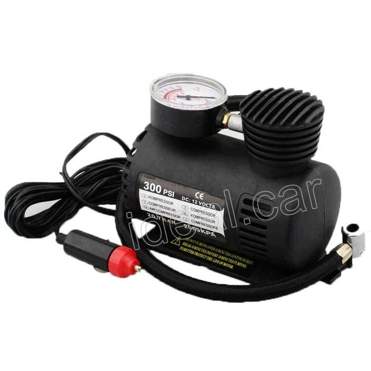 new 12v 300 psi portable car auto electric pump air compressor tire inflator ebay. Black Bedroom Furniture Sets. Home Design Ideas