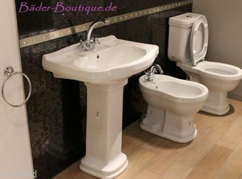retro stand wc sp lkasten nostalgie waschbecken m s ule und bidet marken produkt ebay. Black Bedroom Furniture Sets. Home Design Ideas