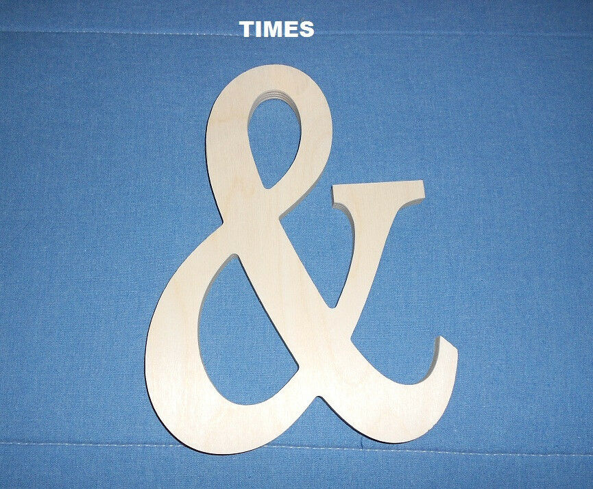 Black Ampersand Wall Decor : Quot unpainted wooden ampersand shape symbol cut out photo