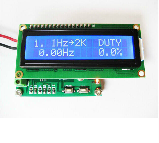 Digital Frequency Meter : Digital phase meter frequency counter duty cycle
