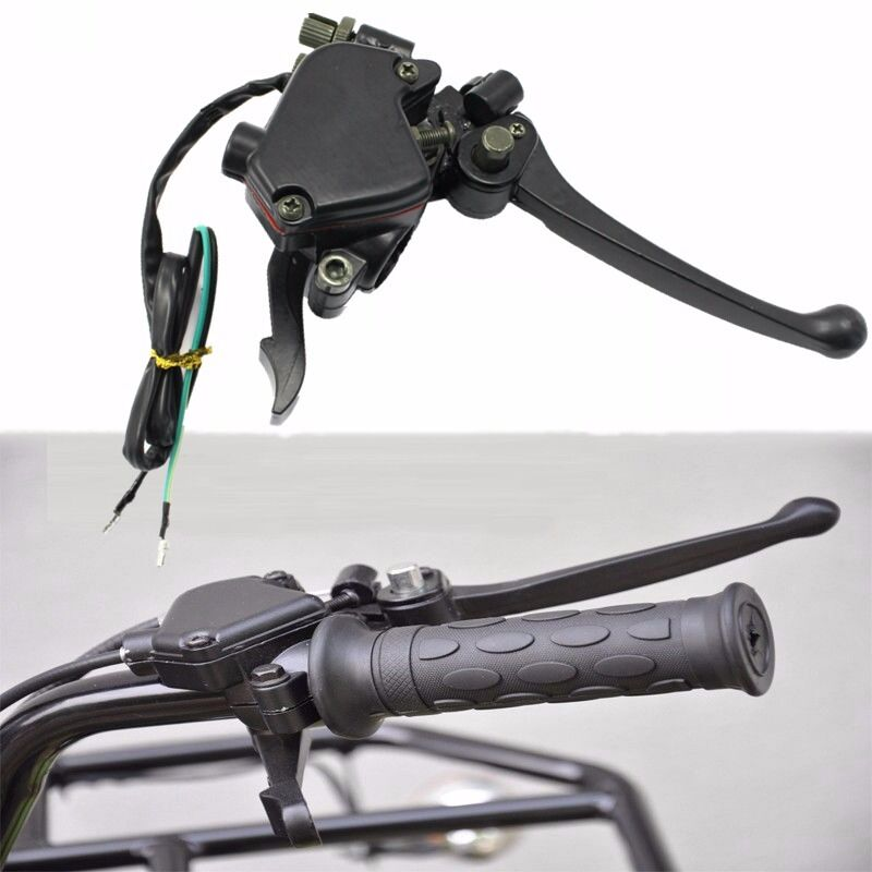 Throttle Lever Assembly : Assembly brake lever thumb throttle cc atv