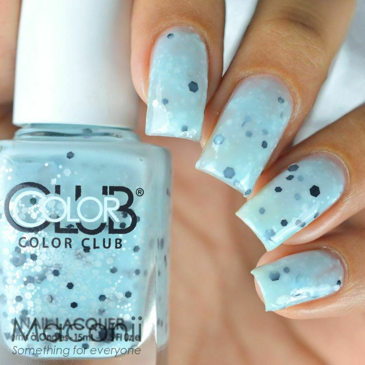Color Club Oh Boy Baby Blue Creme With Black And