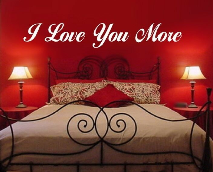i love you more decal quote sticker inspirational romantic. Black Bedroom Furniture Sets. Home Design Ideas