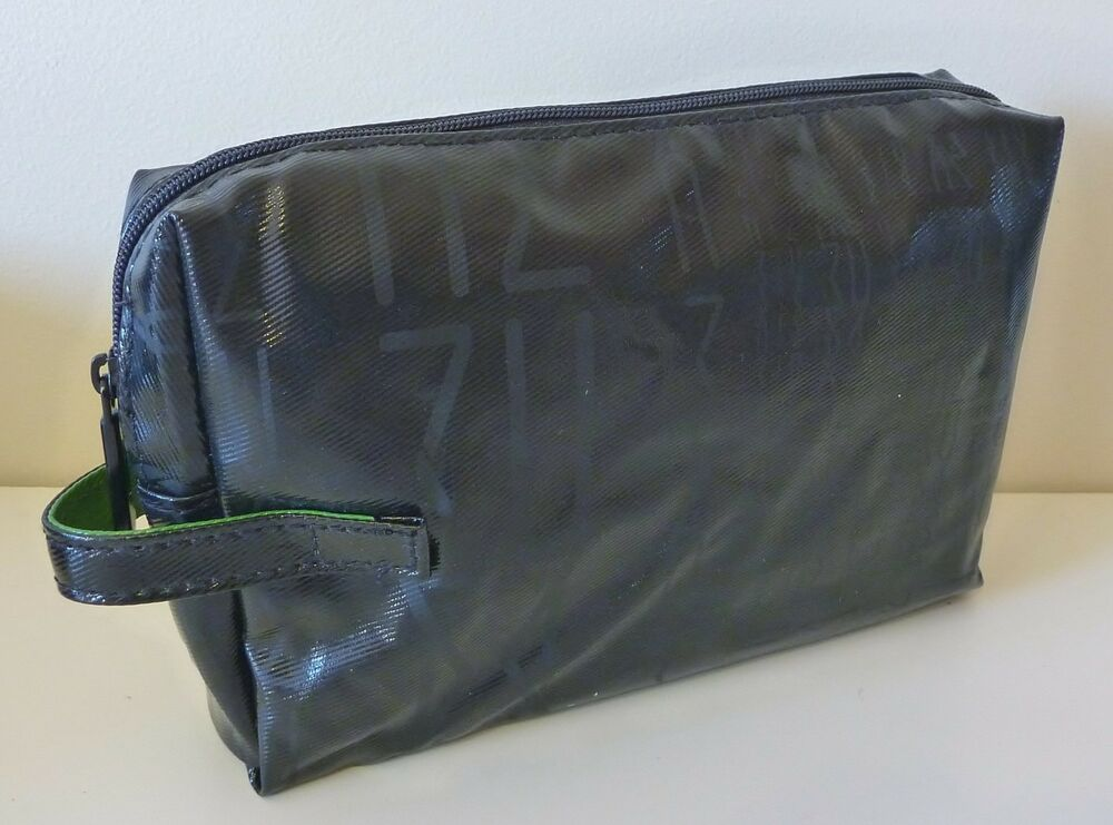 Mac Makeup Cosmetics Bag In Black Faux Patent Leather Brand New 100 Genuine Ebay
