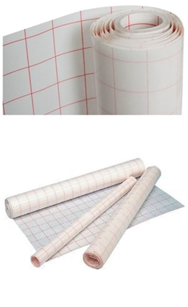 Book Covering Roll : Self adhesive clear sticky back plastic film grid cover