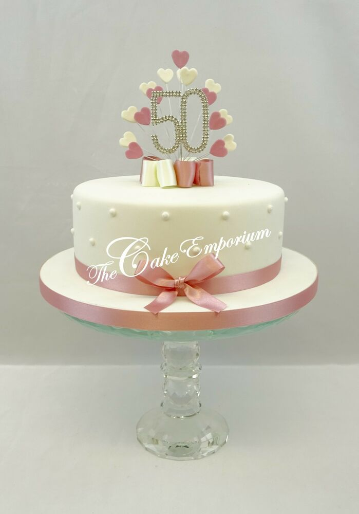 Vintage cake topper heart burst spray diamante numbers for 70th birthday cake decoration ideas