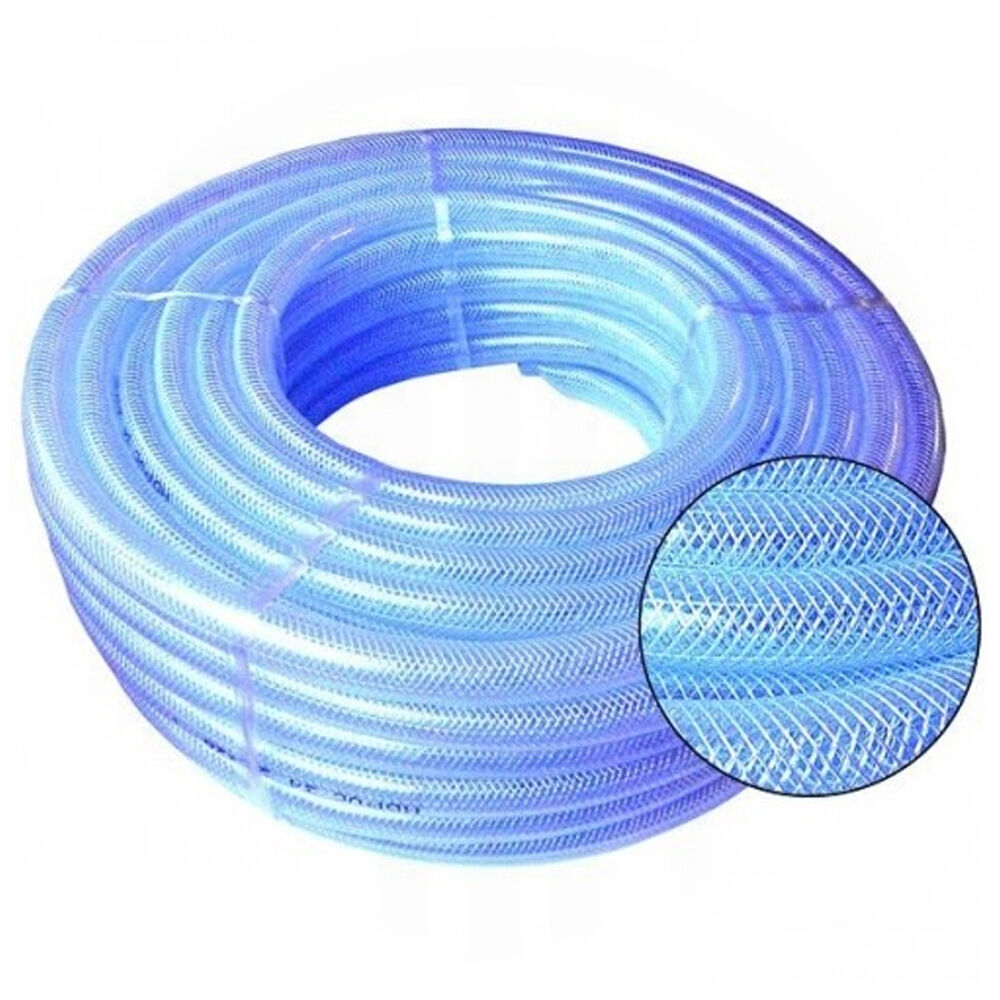 Pvc hose clear flexible reinforced braided food grade for Plastic water pipe