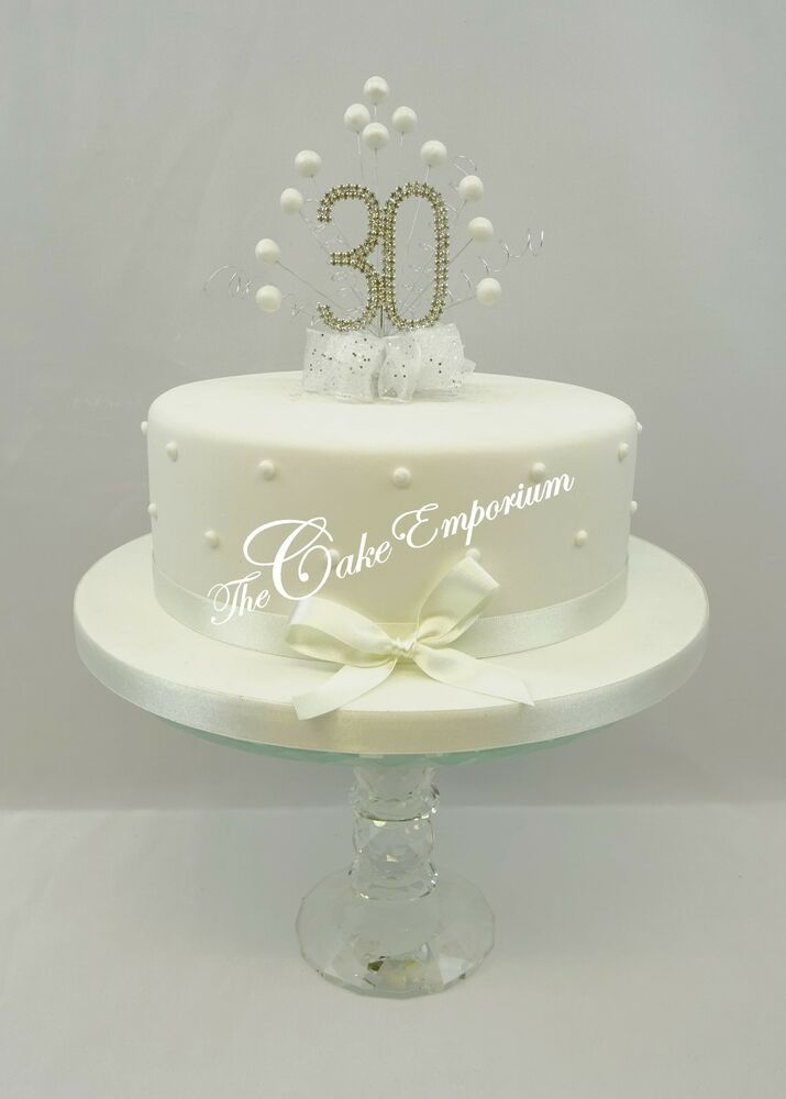 Pearl Wedding Anniversary Cake Decorations