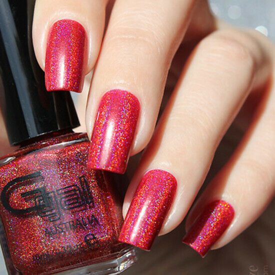 Pinky Maroon Red Holo