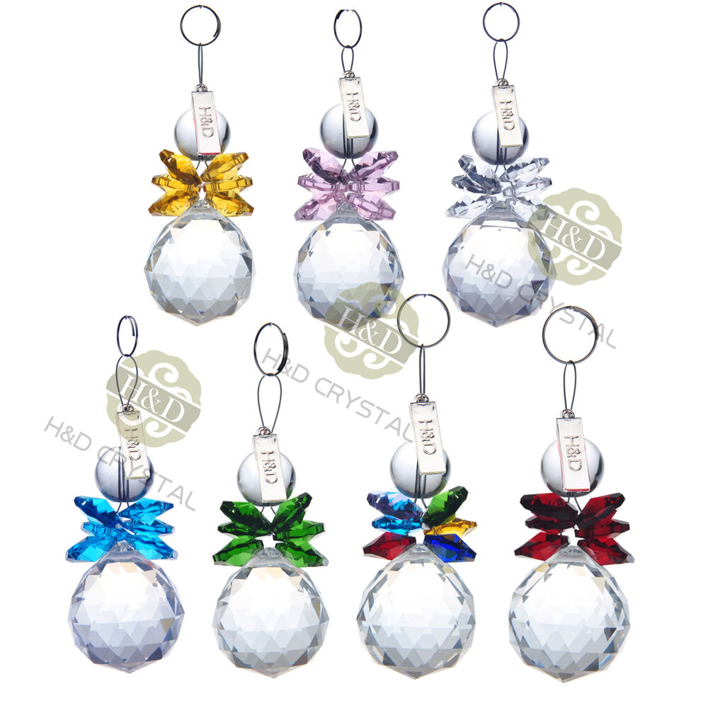 Crystal ball prism chandelier hanging drops xmas snowman