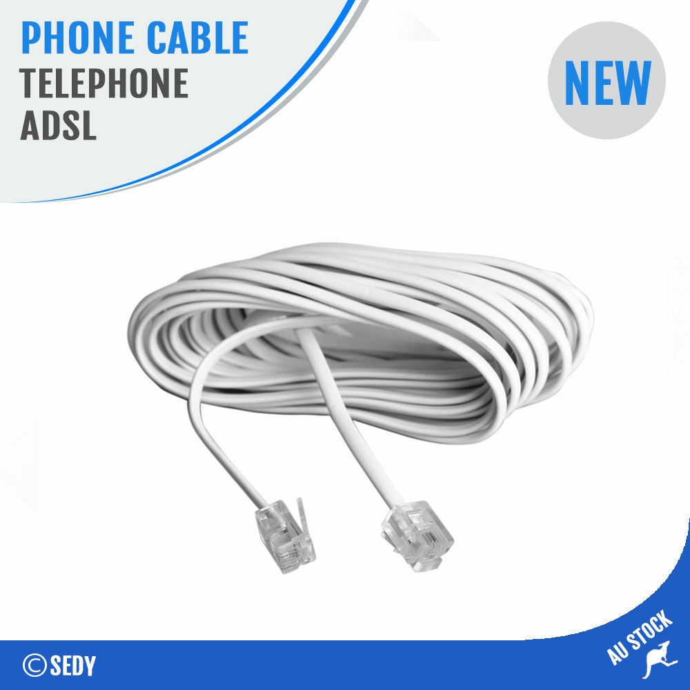 Surprising 2M Telephone Line Phone Cable Extension Cord Lead Plug Adsl Wire Wiring Cloud Hisonuggs Outletorg