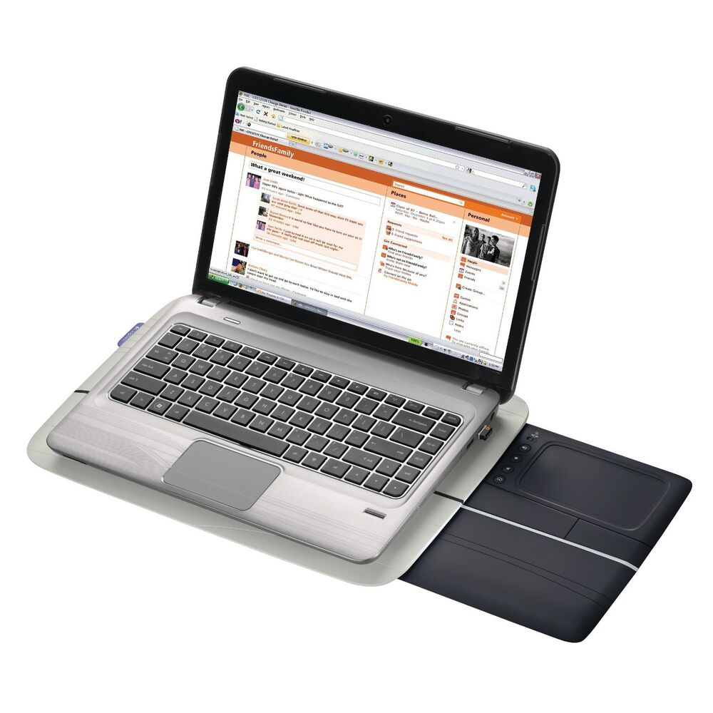Laptop Lap Desk Cushtop Rest Wireless Wifi Usb Trackpad