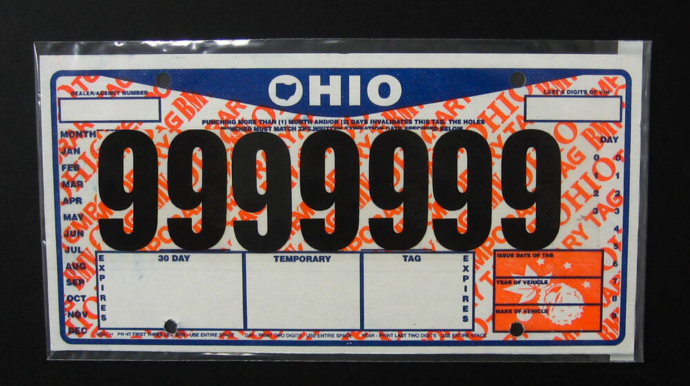one 1 temporary tag license plate cover protector clear plastic sleve jacket ebay. Black Bedroom Furniture Sets. Home Design Ideas