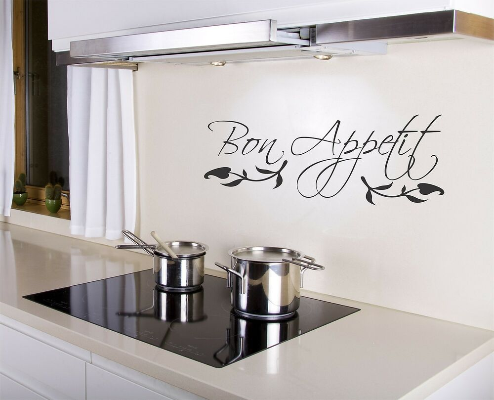 Bon Appetit Wall Decal removable kitchen sticker art decor ...