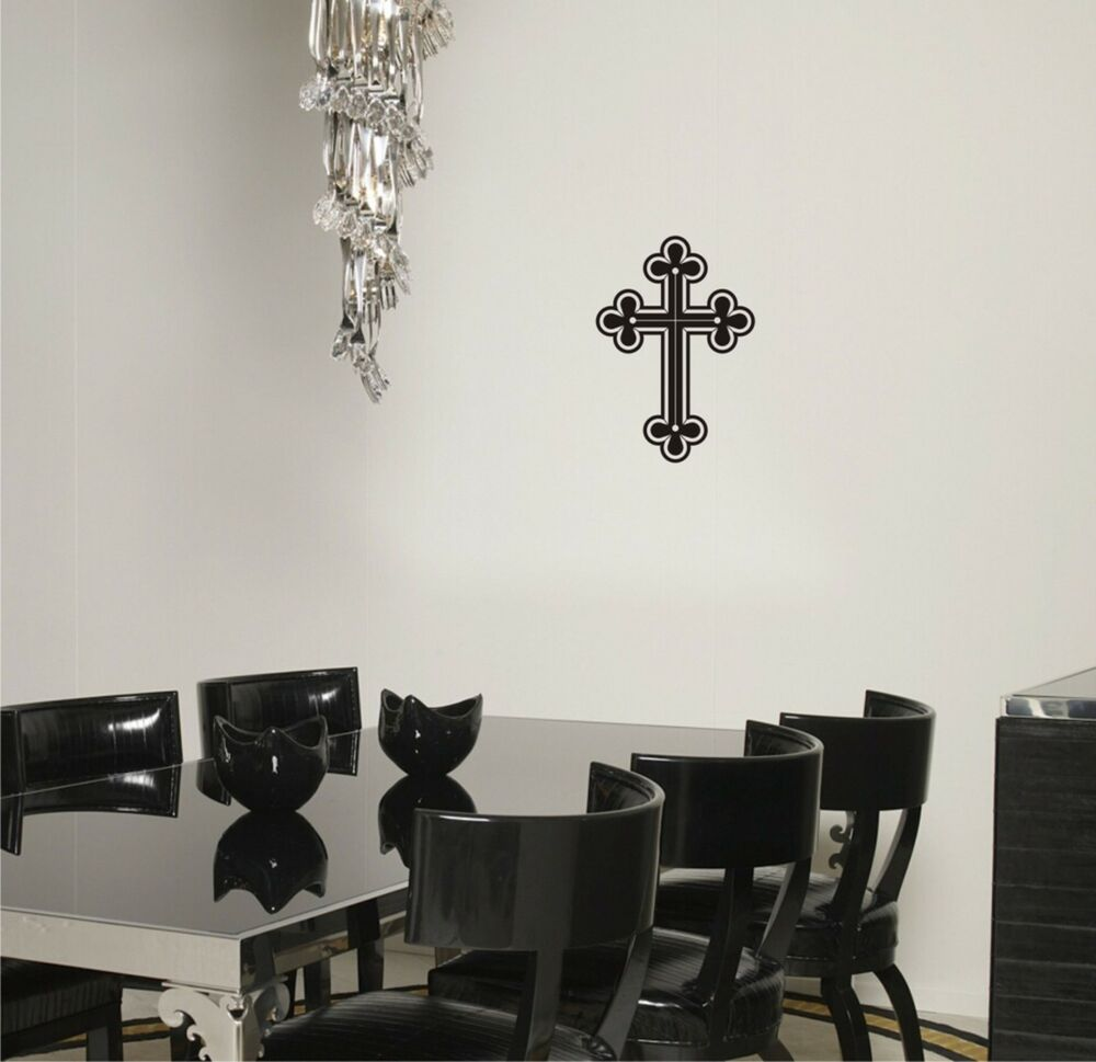 Art Décor: Cross Wall Decal Religious Removalbe Vinyl Sticker Mural