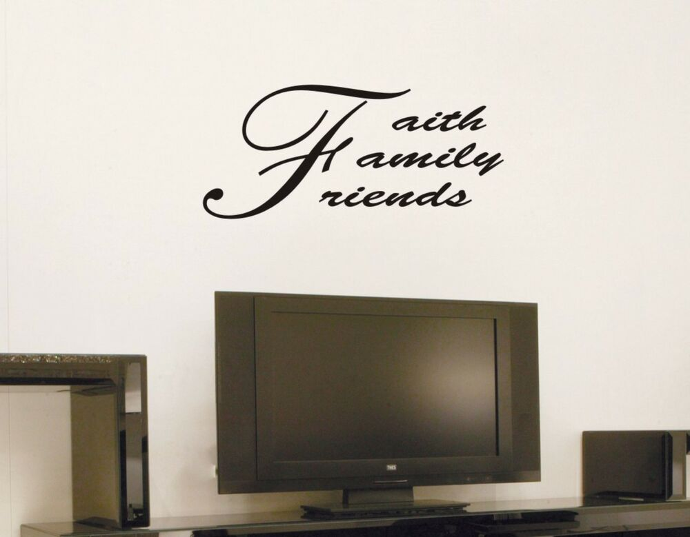 Family Friends Wall Decor : Faith family friends wall decal removable sticker decor