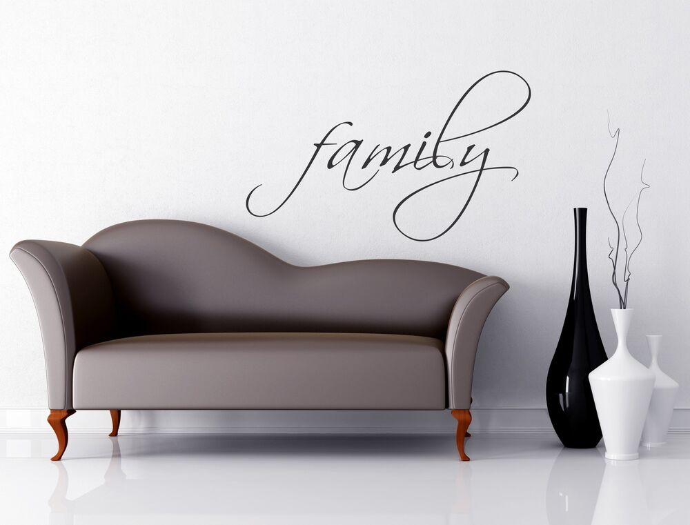 Family wall decal removable sticker art decor wall quote - Family pictures on living room wall ...