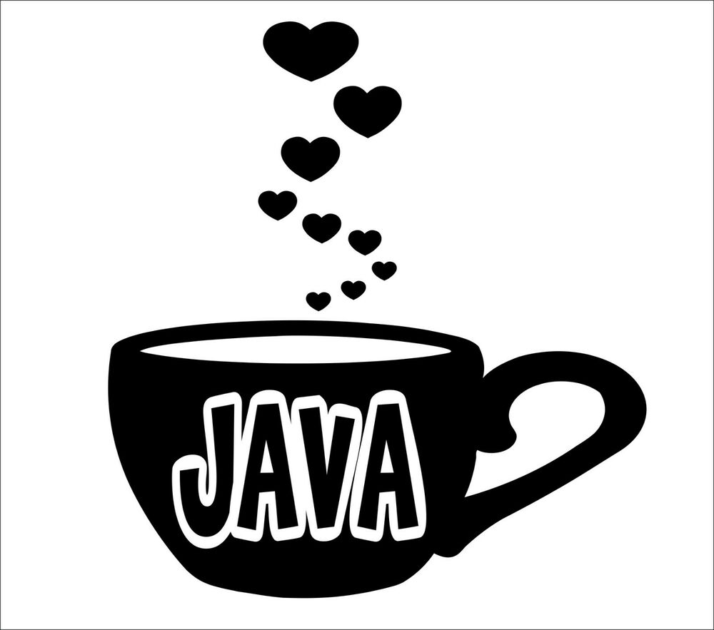 Love Of Coffee Wall Decal Cup Mug Sticker Kitchen Decor