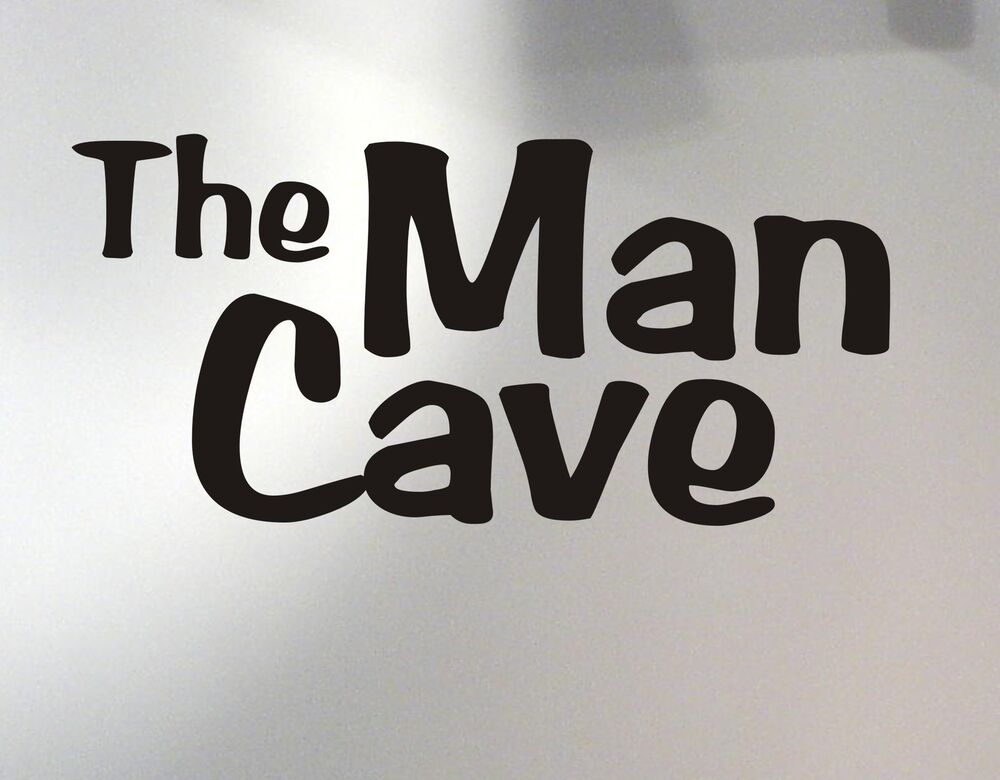 Diy Wall Art For Man Cave : Man cave wall decal removable sticker art decor quote
