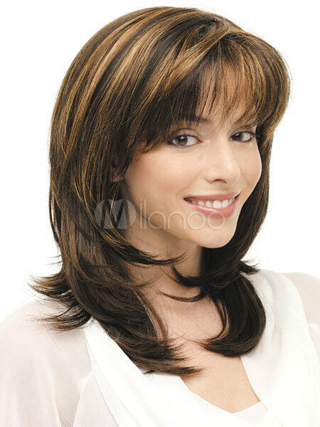 Hot Style Fashion Wig New Charm Women S Medium Long Brown