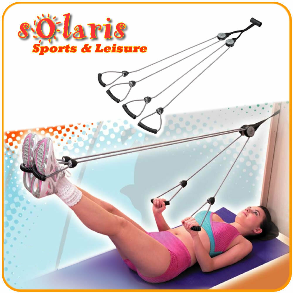 Door Pulley Rope Exerciser Body Shaper for Pilates Workout and Full ...